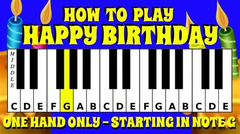 Beginner, easy and intermediate versions. How To Play Happy Birthday Starting On Note G On The Keyboard / Piano | Easy Tutorial - YouTube