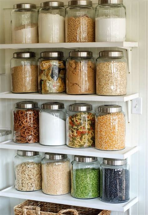 kitchen storage glass containers 22 pretty ways to organize your pantry jars glass 6171