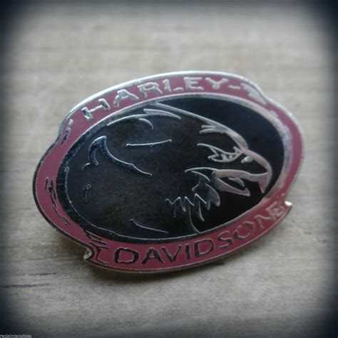 Harley Davidson Insignia by Harley Davidson Authentic Pin Eagle Metal