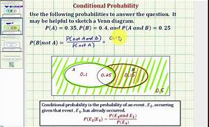 Ex 2  Determine A Conditional Probability Using A Venn
