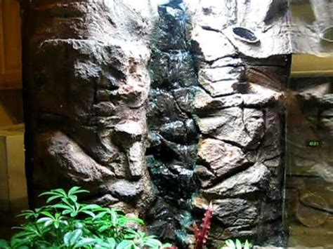 how to make artificial waterfall my fake phony faux rock waterfall build for my dart frog vivarium part 2 youtube