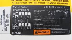 8 Speed Ll Shift Pattern Diagram  Eaton Fuller