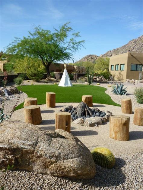 western style landscaping contractor lassos award with western themed landscape
