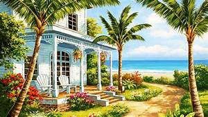 Seaside Cottage Wallpaper and Background Image