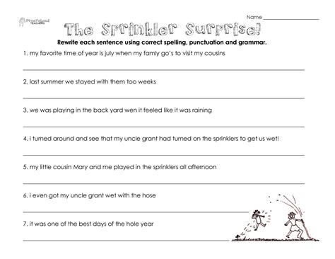 printable english worksheets  year  learning