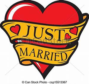 Just Married Sign Clipart