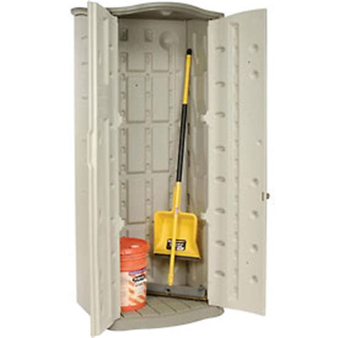 buildings storage sheds sheds plastic rubbermaid vertical storage shed fg374901olvss 2 6