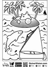 Quiver Sailboat Coloring sketch template