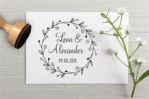 Gastgeschenke Hochzeit Personalisiert : stempel zur hochzeit f r die einladung f r die gastgeschenke mehr ~ Frokenaadalensverden.com Haus und Dekorationen