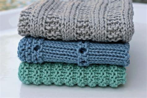 kitchen dishcloths 4 knitting patterns and crochet
