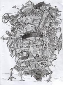 Howls Moving Castle Drawing | www.pixshark.com - Images ...