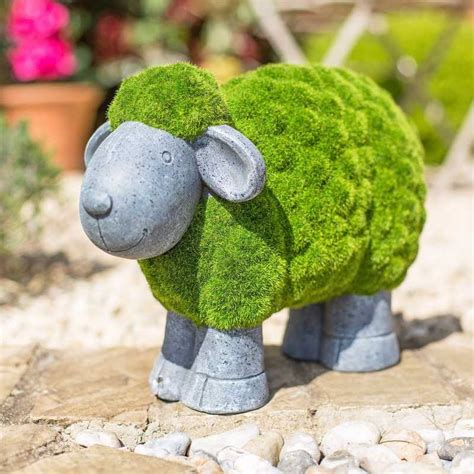 la hacienda flocked sheep garden ornament on sale fast