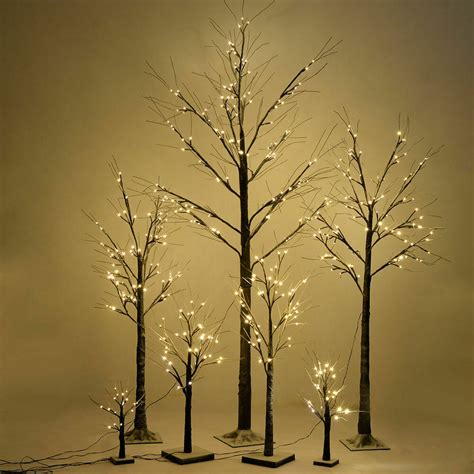 Trees With Led Lights by Brown Birch Snow Tree Led Light Warm