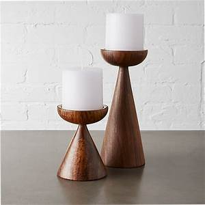 Baltic pillar candle holders cb2 for Kitchen cabinet trends 2018 combined with iron hurricane candle holders
