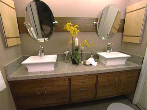 masterbath vanities how to build a master bathroom vanity hgtv