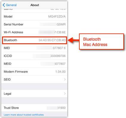 mac address iphone iphone bluetooth mac address solverbase