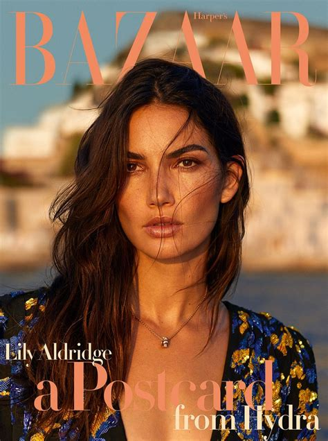 Lily Aldridge Harper Bazaar Greece October