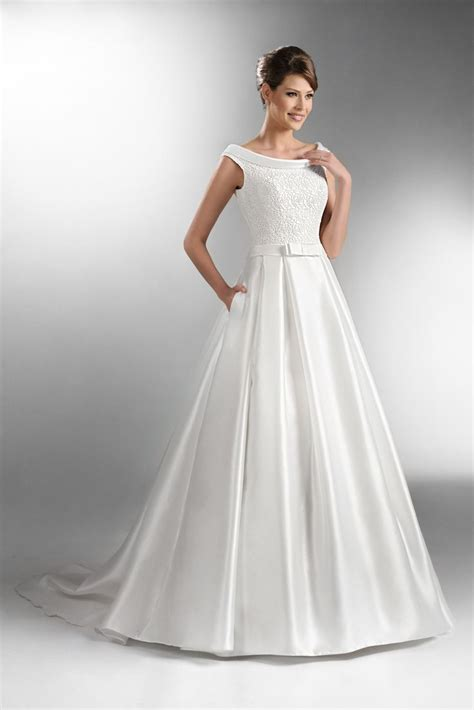 images  boat neck wedding gowns  pinterest
