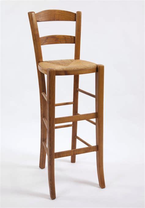 chaise de bar avec dossier tabouret de bar avec dossier en chêne la chaise artisanale