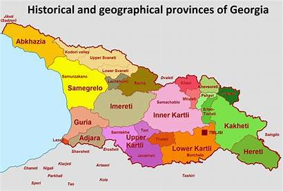 Georgia Regions Historical Country Wikipedia Provinces Divisions
