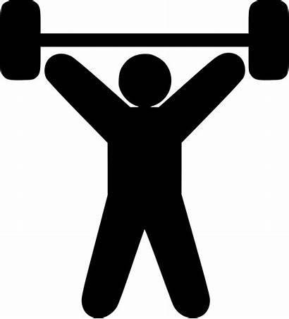 Weight Lifting Svg Icon Clipart Lift Person