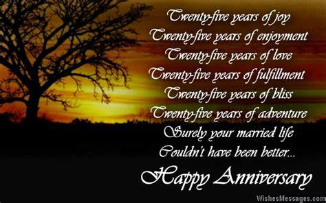 anniversary poems silver wedding anniversary poems wishesmessagescom