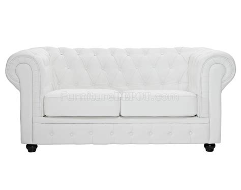 white leather chesterfield sofa chesterfield sofa in white leather by modway w options