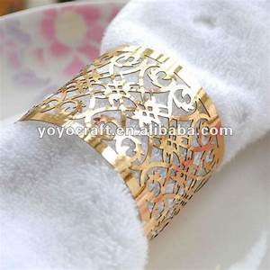 tw002 sample eco friendly gold metallic paper fence design With cheap napkin rings for weddings