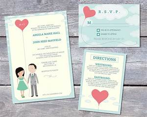 wedding invitation suite custom cartoon printable design With free printable customizable wedding invitations