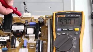 Samsung Un46fh6030fxza Led Tv No Backlights Voltage Test Troubleshoot Leds  U0026 Power Supply