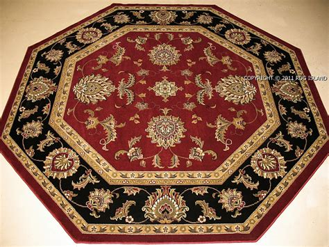 Rug Gold by 8 7 7 Quot Octagon Traditional Black Gold