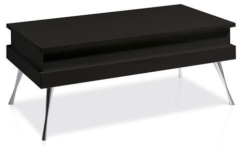 table basse relevable laqu 233 e noir pied acier chrom 233 simpla