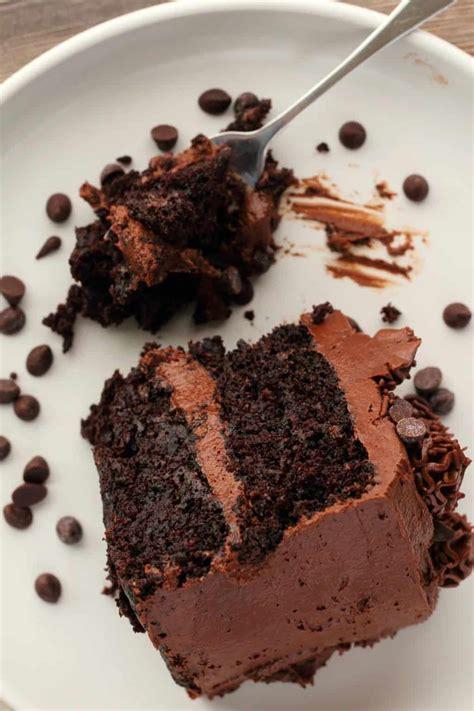 vegan chocolate zucchini cake fudgy  moist loving