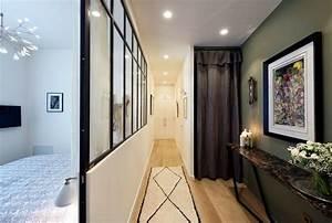 Tendance Papier Peint Couloir : couloir astuces d co peinture papier peint c t maison ~ Melissatoandfro.com Idées de Décoration