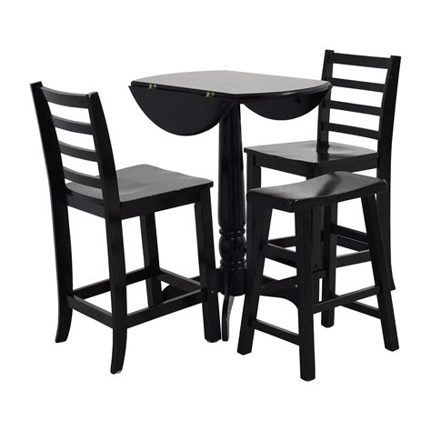 Stool Table by 59 Counter Black Table With Chairs And Stool