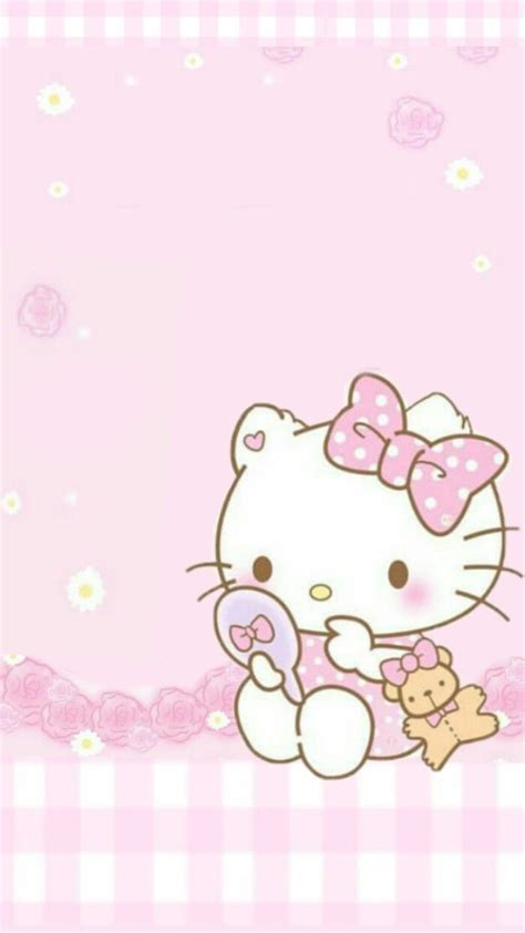 Check them out below and click on the wallpaper to get the full high resolutions versions for your phone: Pink Hello kitty   Hello kitty wallpaper, Hello kitty backgrounds, Hello kitty pictures