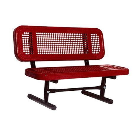 ultraplay preschool portable outdoor bench perforated