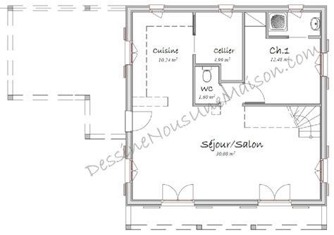 plan cuisine americaine plan maison cuisine ouverte cuisine en image