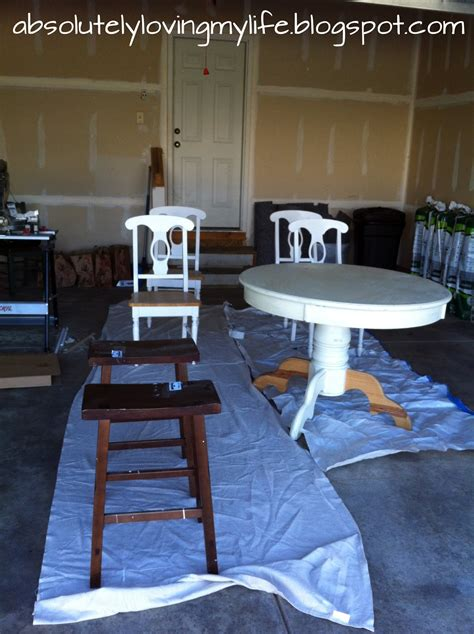 loving life refinished craigslist kitchen table  streaks   sanding