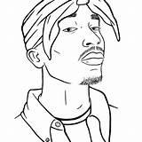 Tupac 2pac Cardi Shakur Gangster Xcolorings Hip 드로잉 Depuis sketch template