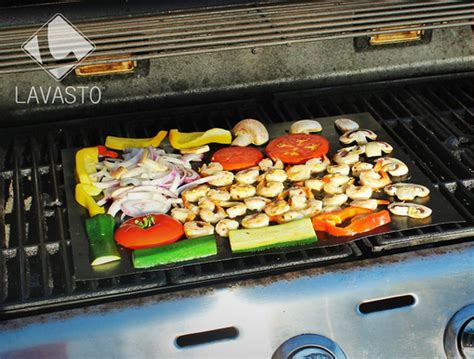 Kitchen Grill Mat by Bbq Grill Mat For Seafood Veggies Cooking Gizmos