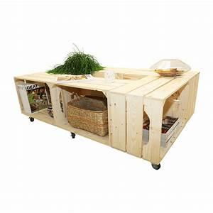 Caisse Bois Rangement : table basse bois originale 6 niches de rangement 6si simply a box ~ Teatrodelosmanantiales.com Idées de Décoration