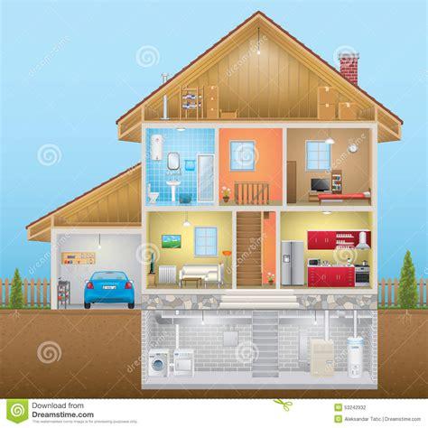 house interior stock vector image
