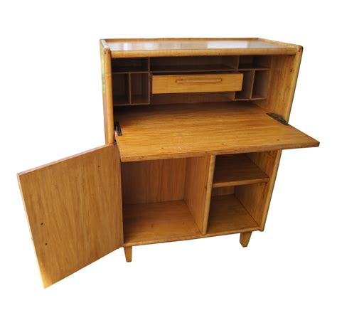 old style wooden desk midcentury retro style modern architectural vintage