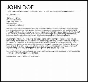 free supply chain manager cover letter templates With cover letter for supply chain management