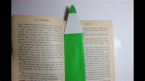 diy easy origami pencil bookmark youtube