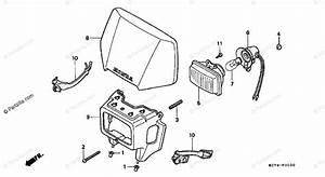 Honda Motorcycle 2000 Oem Parts Diagram For Headlight
