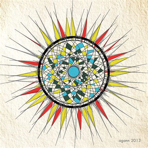 Abstract Sun Drawing by April Gann
