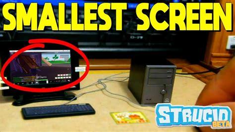 smallest screen  strucid roblox youtube
