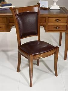 Chaise En Bois Massif : chaise ine en merisier massif de style louis philippe meuble en merisier massif ~ Teatrodelosmanantiales.com Idées de Décoration